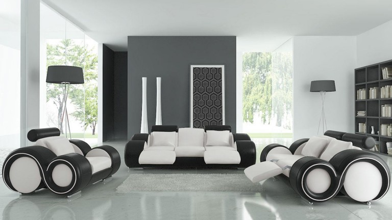 sal n de piel pierce sof de 3 plazas sof de 2. Black Bedroom Furniture Sets. Home Design Ideas
