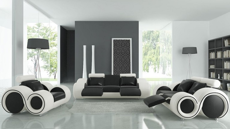 salon321 canape design assise noir cote blanc782 pierce mobiliermoss - Salon Avec Canape Noir