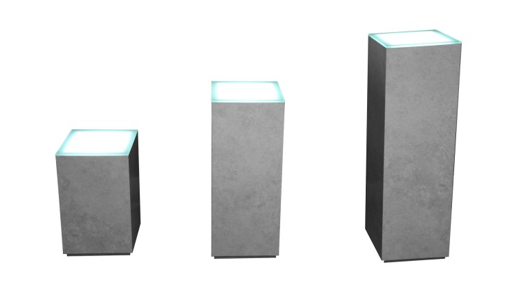 socle effet beton plateau led whitymi mobiliermoss