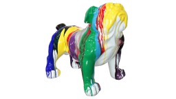 statue deco multicolore interieur exterieur chien mobiliermoss