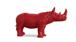 statue design rhinoceros rouge mobiliermoss