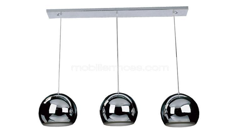 Lustre design ally un magnifique lustre de salon au for Lustre 3 suspensions