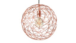 suspensions metal cuivre geometrique cage sompex mobiliermoss