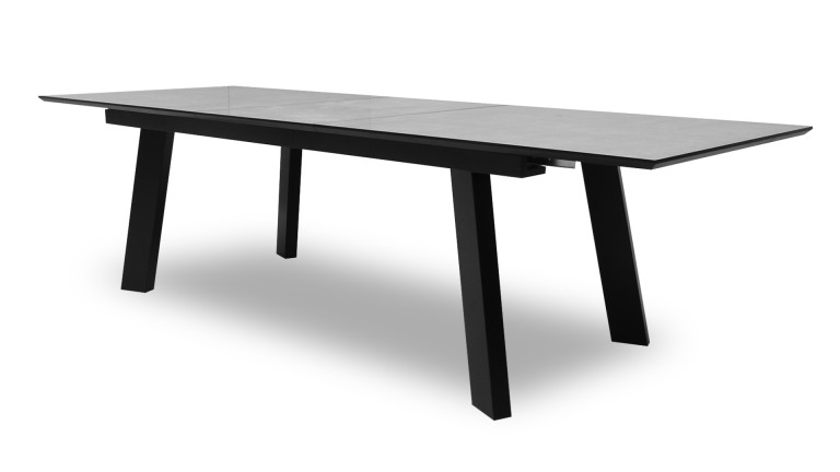 Table de salle manger effet b ton muonio table for Table salle a manger rallonges integrees