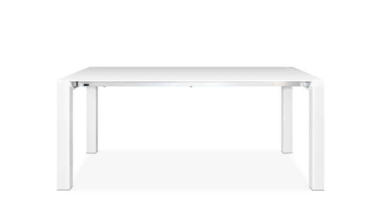 Table a manger blanc laque design contemporain mobiliermoss