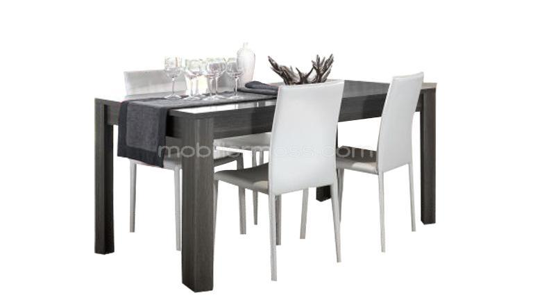 table contemporaine grise. Black Bedroom Furniture Sets. Home Design Ideas