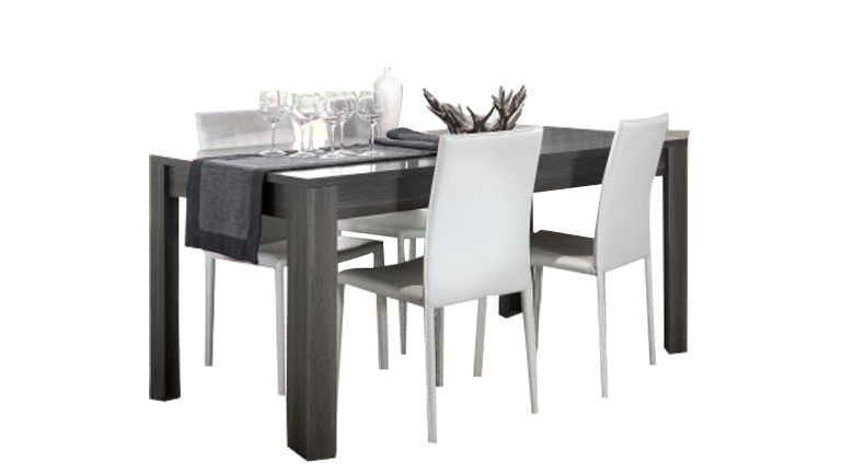 Table salle manger grise cool salle manger en total look for Table de salle a manger grise