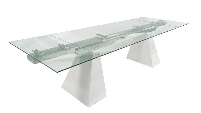 table a manger extensible marbre valeria