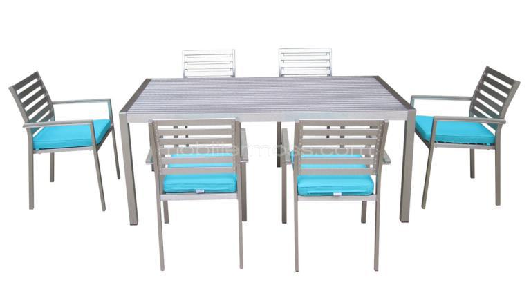 Marica sal n de jard n sillas y mesa de comedor de exterior for Table exterieur 12 places