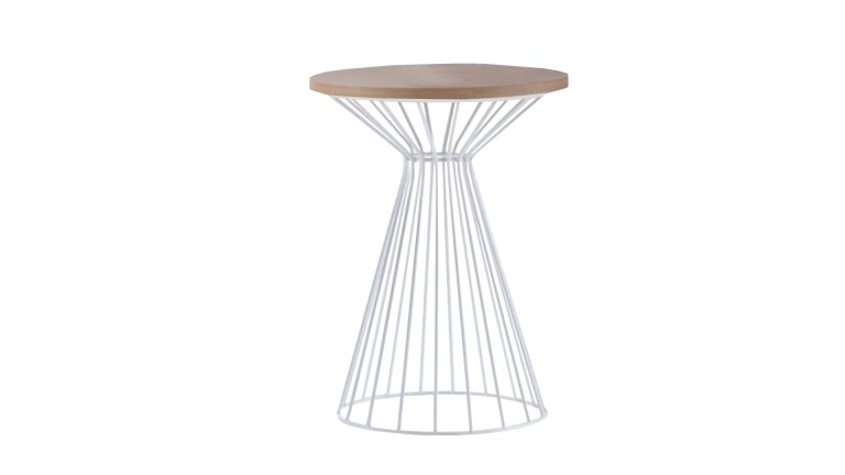 table appoint metal blanc plateau bois govik mobiliermoss