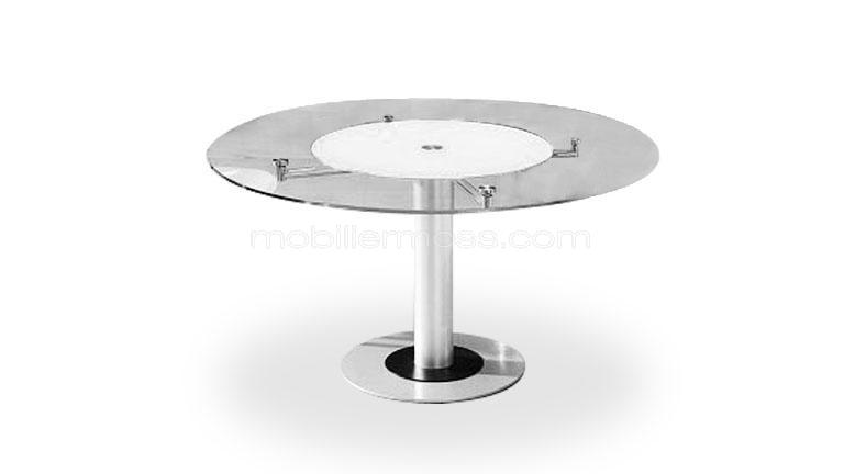 Table basse en verre plateau tournant - Table basse ronde en verre design ...