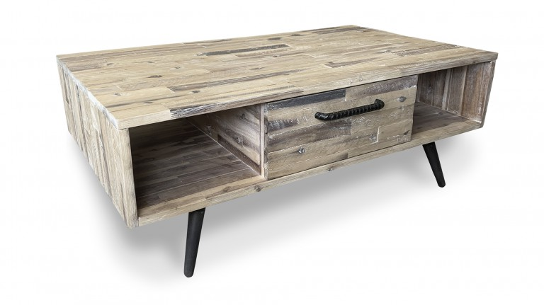 table basse acacia massif pieds noirs bodenn mobiliermoss