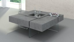 Table basse beton crystalline mobiliermoss