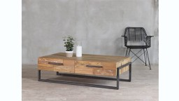 table basse bois 4 tiroirs canbera mobiliermoss