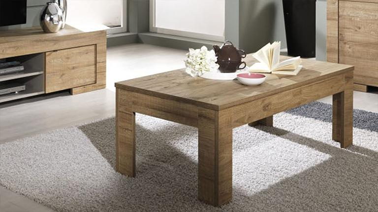 Table basse moderne en bois emiliano mobilier moss - Table moderne en bois ...