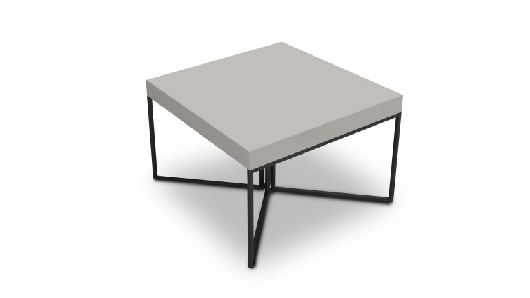 table basse hauteur 40 cm kufstein gris pied m tal noir mobilier moss. Black Bedroom Furniture Sets. Home Design Ideas