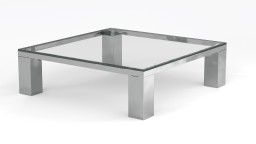 Table basse carr�e en verre contemporaine - Glassy