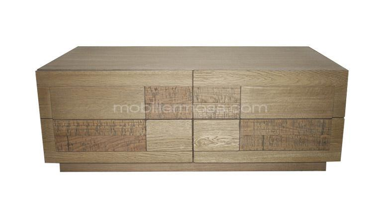 table basse cleveland 4 tiroirs face mobilier moss