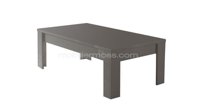 table basse laqu e blanche ou grise maurilla mobilier moss. Black Bedroom Furniture Sets. Home Design Ideas