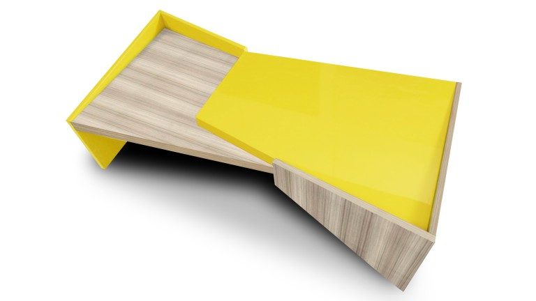 Table basse design jaune wainaku mobiliermoss