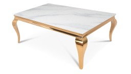 Mesa de centro rectangular dorado - Betty
