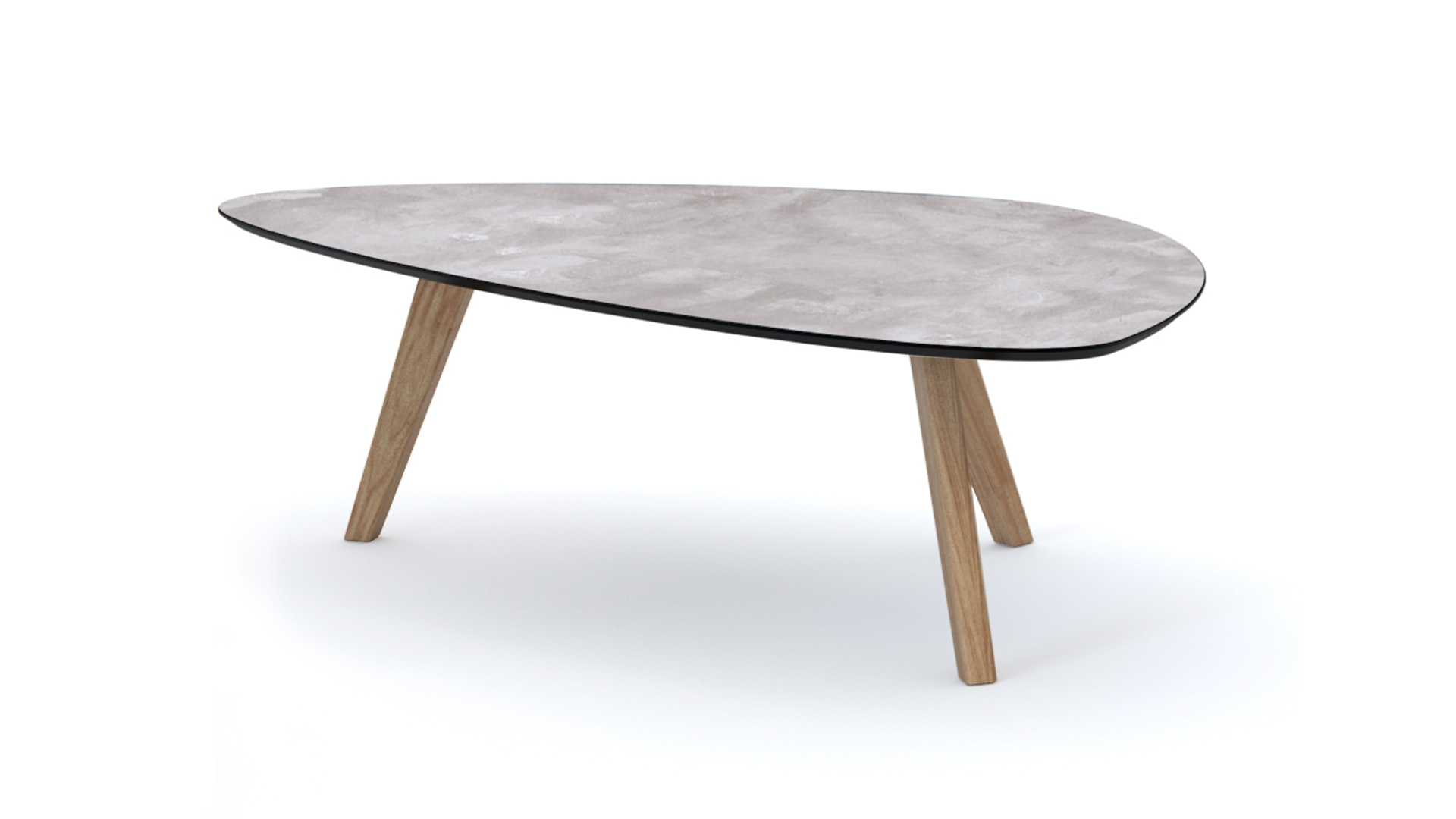 Table basse ronde effet beton for Table basse effet beton