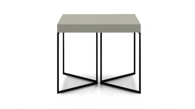 Table basse hauteur 50 cm kufstein gris pied m tal noir for Table basse design hauteur 50 cm