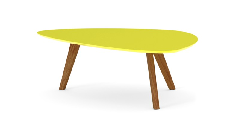 table basse svartan jaune avec pieds bois clair mobilier moss. Black Bedroom Furniture Sets. Home Design Ideas