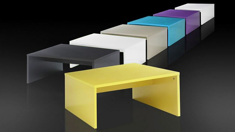 Table basse color e ox color mobilier moss - Table basse colore ...