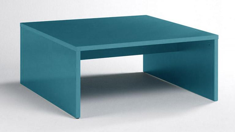 table basse laquee turquoise ox color mobiliermoss