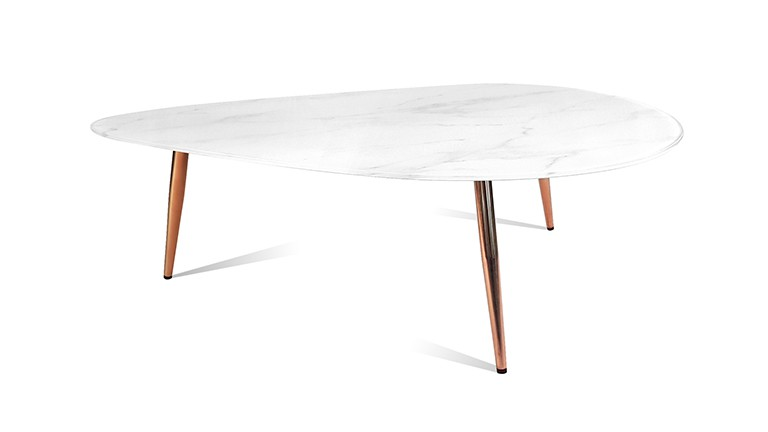 Table marbre blanc cecile mobiliermoss