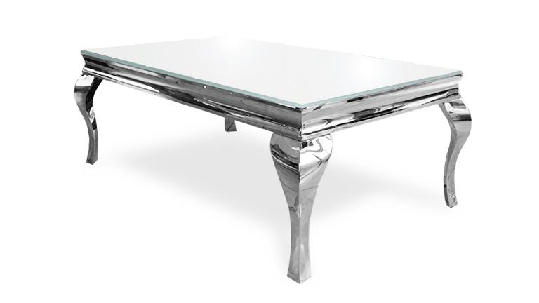 table basse plateau verre pied inox. Black Bedroom Furniture Sets. Home Design Ideas