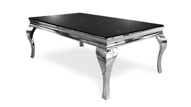 table basse pied metal plateau verre noir betty mobiliermoss
