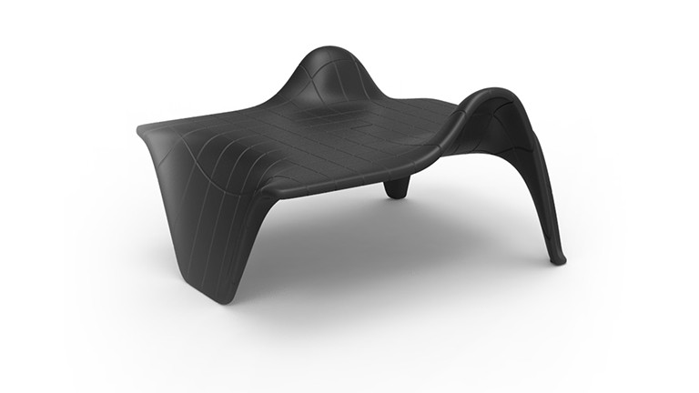Table basse polyethylene noir design vondom f3 mobiliermoss