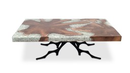 table basse rectangulaire epoxy bois transparente mobiliermoss