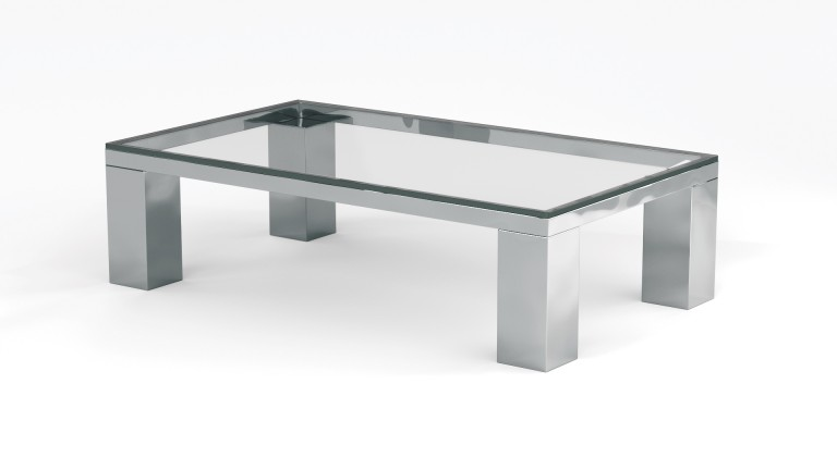 Table basse de salon en verre transparent glassy mobilier moss - Table basse rectangulaire en verre ...