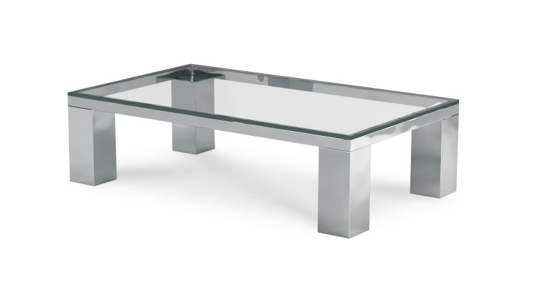 table basse de salon en verre transparent glassy - mobilier moss