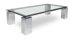 Table basse rectangulaire en verre - Arklow