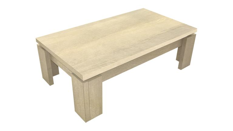 Table basse ankmar rectangulaire mobilier moss - Table basse en bois clair ...
