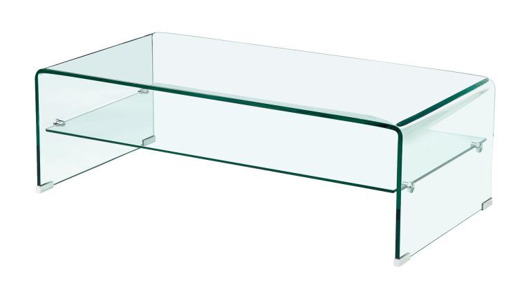 Table basse en verre trempe but for Table basse verre but