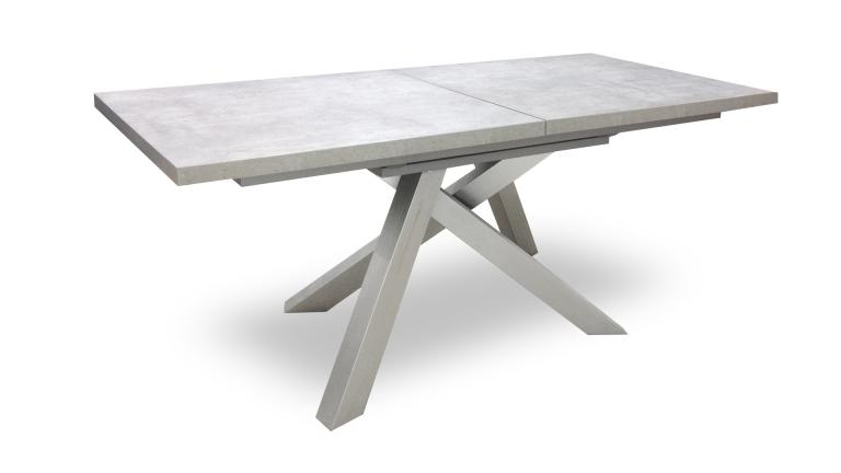 table beton inox a rallonges klow mobiliermoss