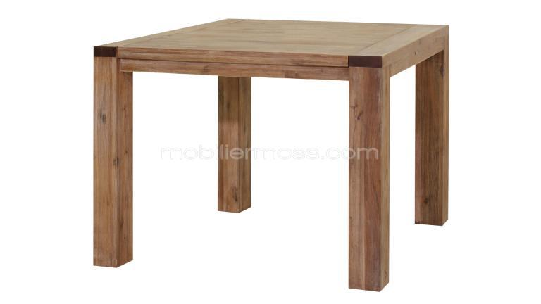 Table carr e extensible bois table de lit a roulettes - Table carree extensible bois ...