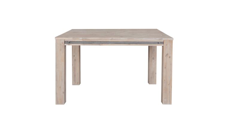 table de salle manger carr e en bois massif avec rallonge amylton. Black Bedroom Furniture Sets. Home Design Ideas