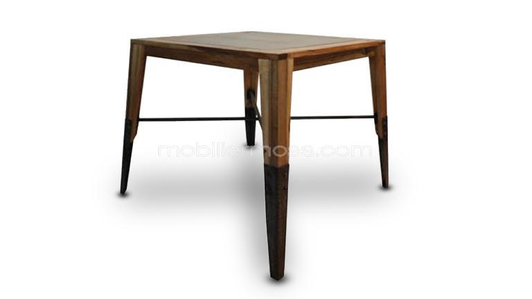 Plymouth table de salle manger carr e mobilier moss - Table carree bois metal ...