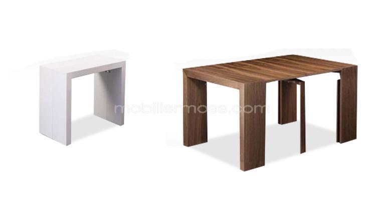 Habitatsoldeur tables chaises bars trouvez le for Console transformable en table salle a manger