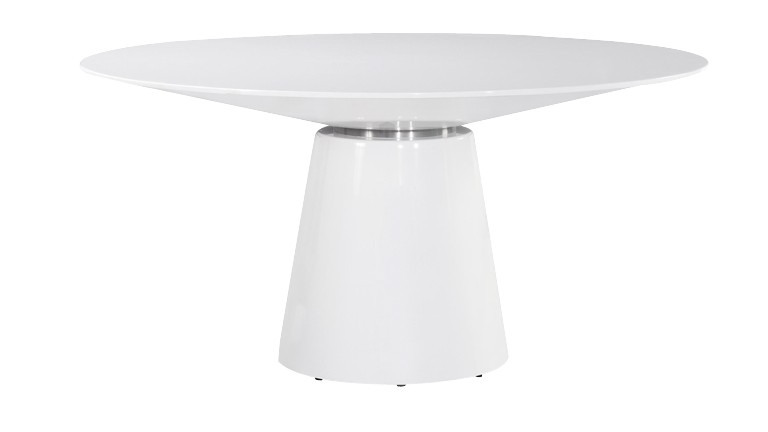 Table design blanc cubik