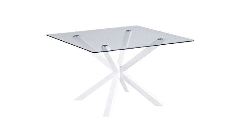 Table diner carr e elfy en verre tremp mobilier moss - Table carree en verre ...