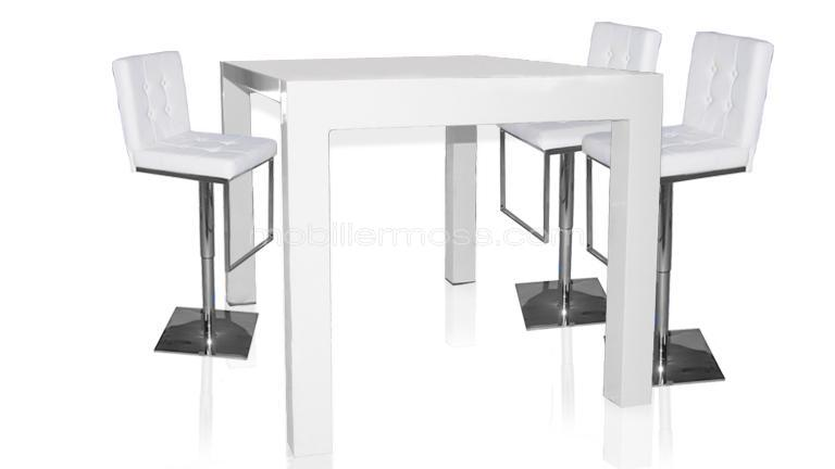 Table haute laquée design et extensible  Flexy  Mobilier