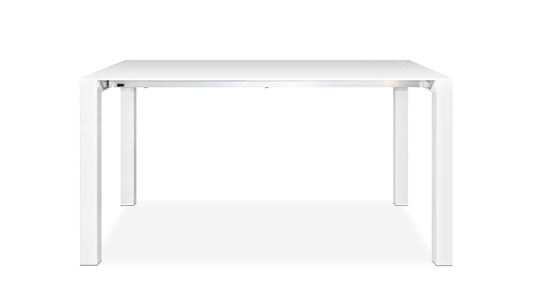 Table haute blanc mat design contemporain 1 mobiliermoss