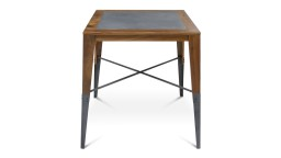 Table haute carree en bois style industriel plymouth mobiliermoss